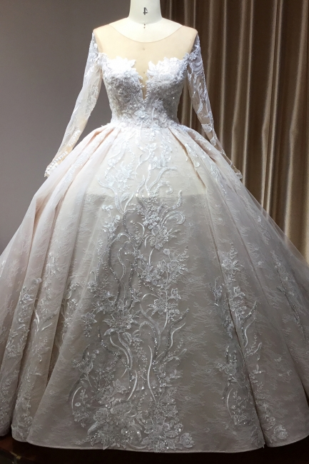 Extravagante Brautkleider Mit Ärmel | Prinzessin Hochzeitskleider Spitze