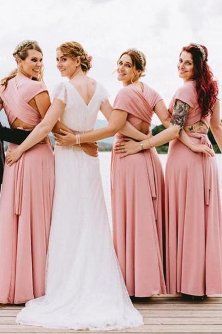 Wandelbare Brautjungfernkleider Rosa   Kleider für Brautjungfern