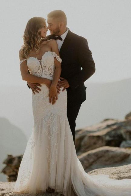 Schöne Brautkleider Meerjungfrau Spitze | Hochzeitskleider Online Kaufen