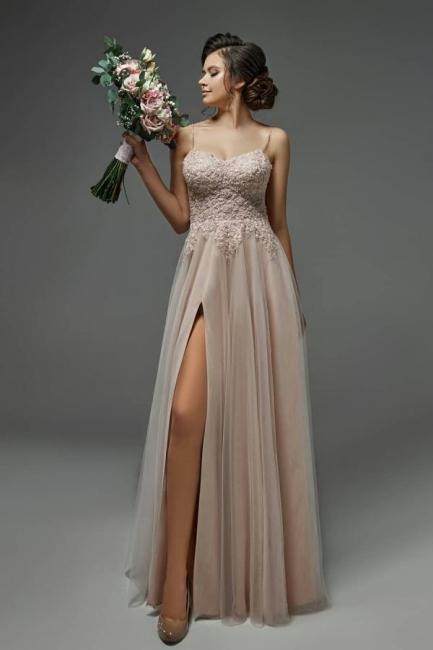 Schlichtes Brautkleider mit Spitze   Etuikleider Hochzeitskleider Online
