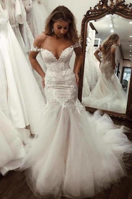 Schöne Hochzeitskleider Mit Spitze   Brautkleider Meerjungfrau