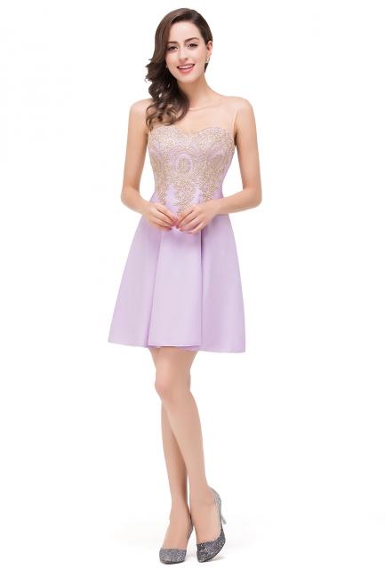 Lavender Cocktailkleider Kurz | Schlichtes Abendkleid