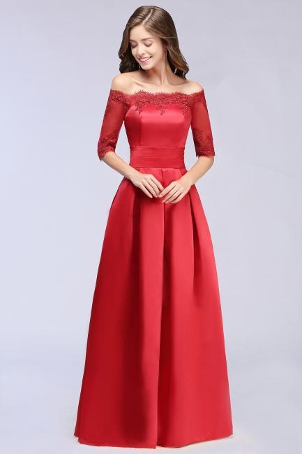 Abendkleider Lang Rot | Abiballkleider mit Ärmel