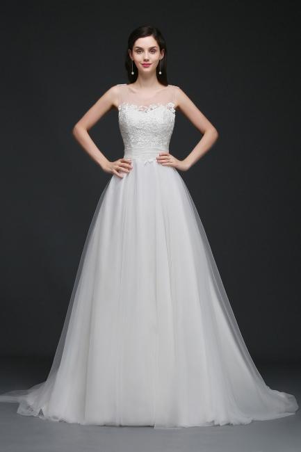 Schlichtes Brautkleid Online | Hochzeitskleid A Linie