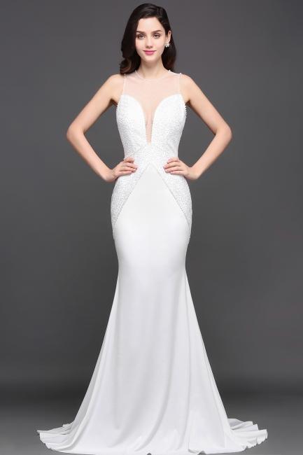 Schlichtes Abendkleid Lang Günstig | Abendkleider Weiß