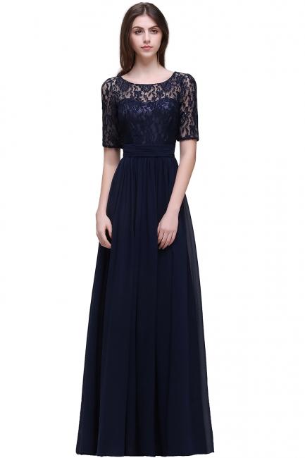 Blaue Abendkleider Lang Günstig | Abiballkleider mit Ärmel