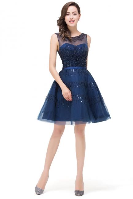 Cocktailkleider Kurz Blau | Abendkleider Partykleider Günstig
