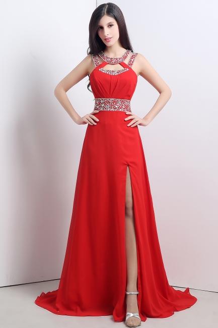 Abendkleider Lang Rot | Chiffon Kleider Abendmoden