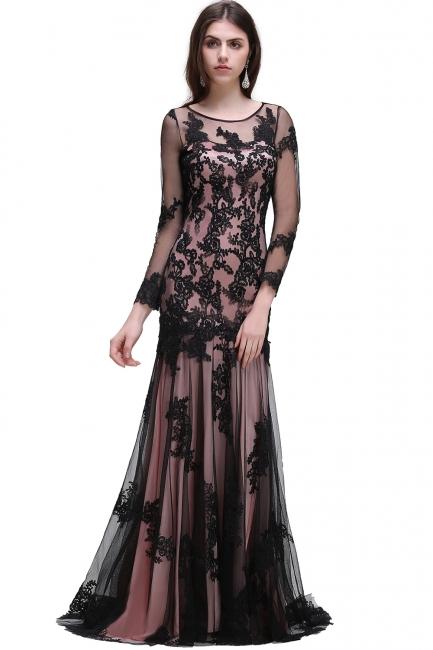 Abendkleider Lang Schwarz | Abiballkleider mit Spitze