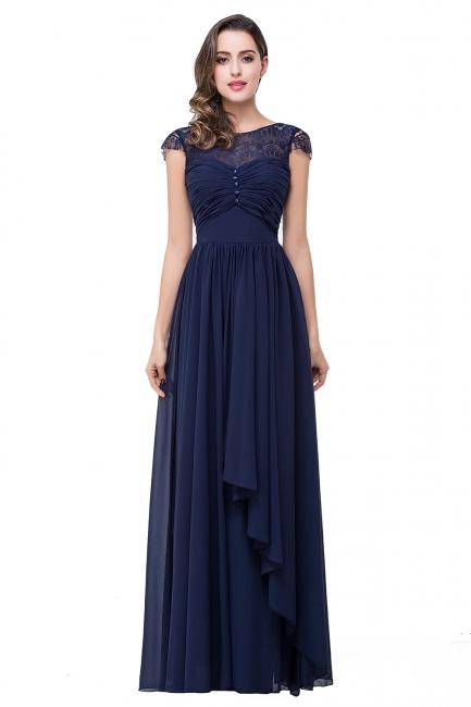 Schlichtes Abendkleid Navy Blau | Abiballkleider Lang Günstig