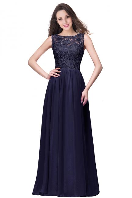 Schlichtes Abendkleid Lang | Abiballkleider mit Spitze