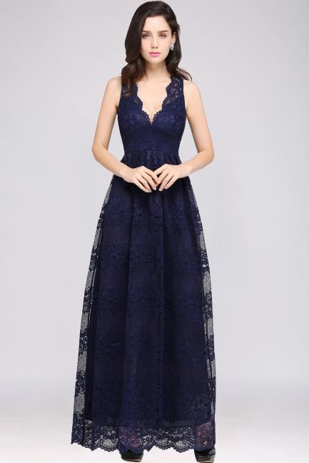 Abendkleid Lang V Ausschnitt | Abiballkleider Mit Spitze