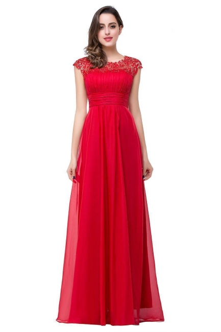 Rotes Abendkleid Lang Günstig   Abiballkleider Online