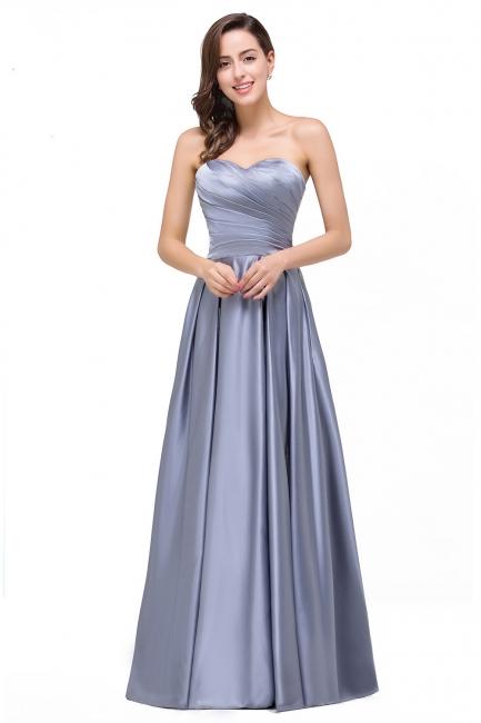 Silber Abiballkleider Lang Günstig | Schlichtes Abendkleid