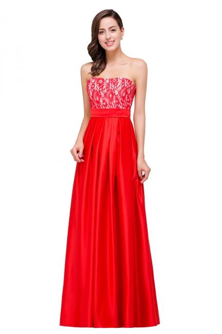 Rote Abendkleider mit Spitze   Abiballkleider Lang Günstig