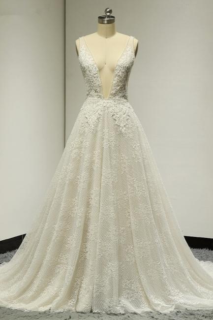 Brautkleider A Linie Spitze   Hochzeitskleid Bestellen