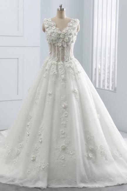 Brautkleider A Linie Spitze | Tüll Hochzeitskleider Online