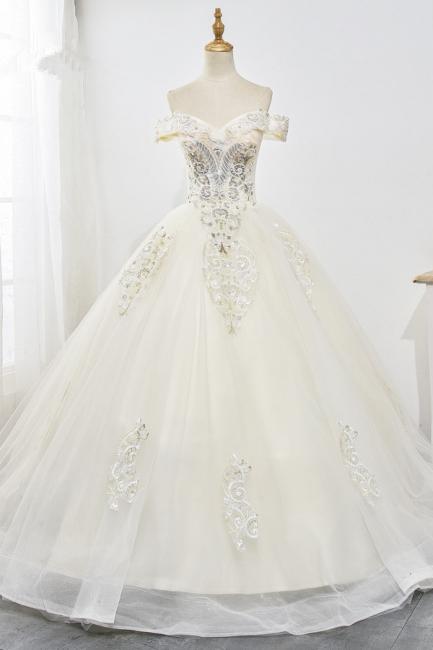 Designer Hochzeitskleider A Linie | Brautkleid mit spitze