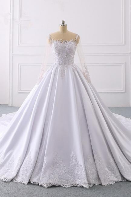 Ausgefallene Hochzeitskleider Lange Ärmel | Brautkleid A Linie