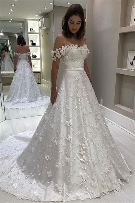 Fashion Brautkleid A Linie   Hochzeitskleider mit Spitze Online