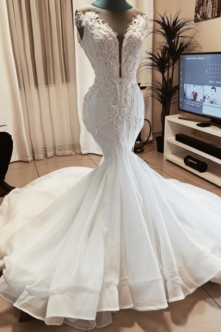 Brautkleid Meerjungfrau Spitze | Hochzeitskleid Online Kaufen