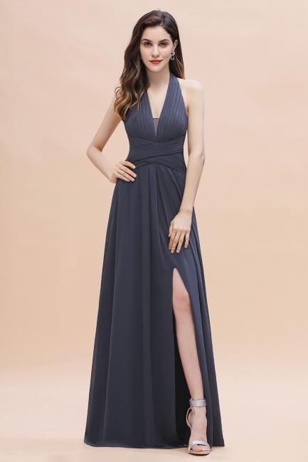 Brautjungfernkleider Günstig Kaufen   Chiffon Kleider Grau