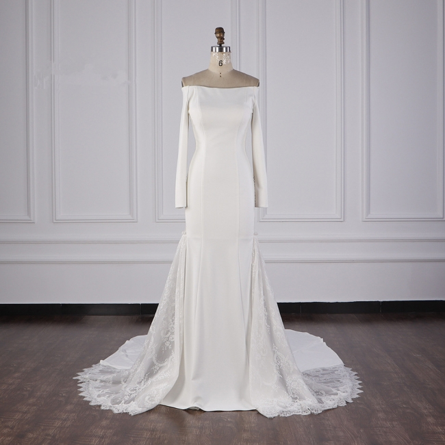 Bohemian Hochzeitskleid Langarm | Brautkleid Meerjungfrau