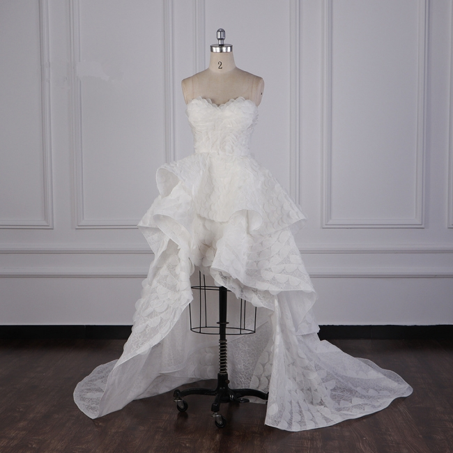 Hochzeitskleid A Linie | Brautkleid Vorne Kruz Lange Hinter