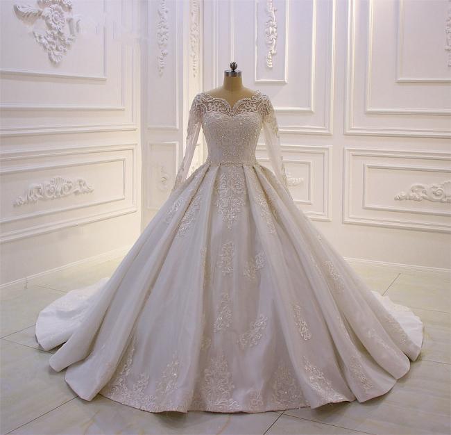 Standesamt Hochzeitskleid Lange Ärmel | Brautkleider Prinzessin