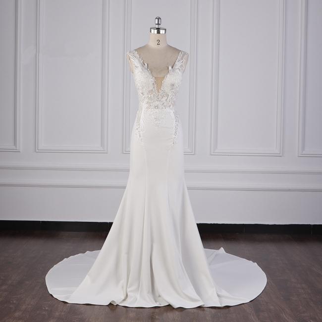 Schlichte Brautkleid Meerjungfrau | Hochzeitskleider Günstig Online