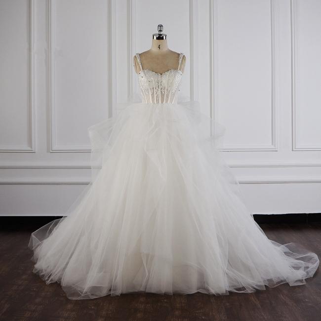 Tüll Brautkleider Lange Ärmel | Standesamt Hochzeitskleid