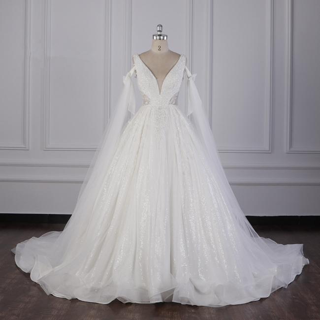 Prinzessin Brautkleider Lang Ärmel | Hochzeitskleider Spitze