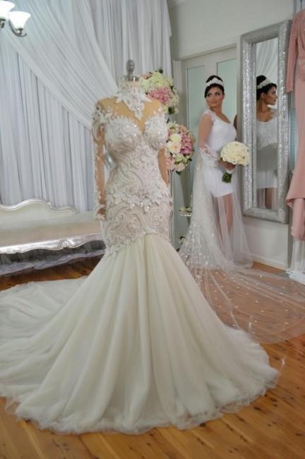 Designer Hochzeitskleid Umstandsmode | Brautkleid Meerjungfrau Spitze