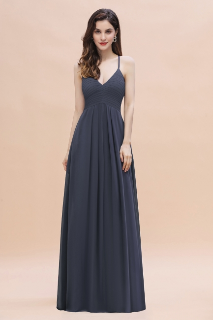 Brautjungfernkleid Dunkel Grau | Günstige Brautjungfernkleider
