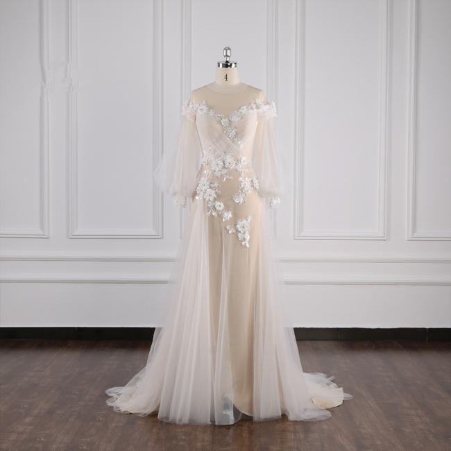 Hochzeitskleid Langarm Spitze | Brautkleider Online Kaufen