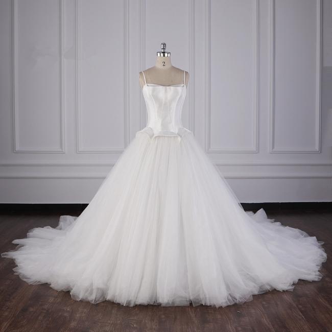 Hochzeitskleider Prinzessin Luxus   Tüll Brautkleid Umstandsmode