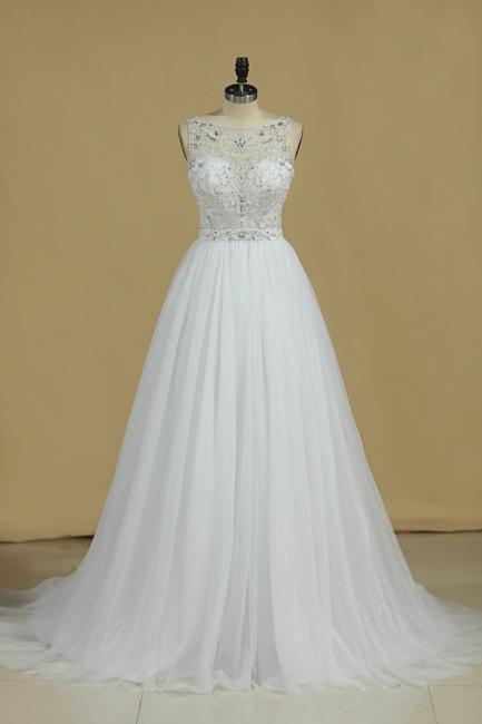 Ausgefallene Hochzeitskleider Spitze | Brautkleid Tüll