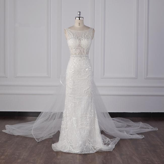 Neue Brautkleider Meerjungfrau Spitze | Hochzeitskleidung Damen