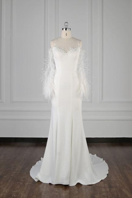 Hochzeitskleid Spitze Langarm | Brautkleid Meerjungfrau