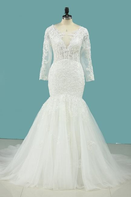 Hochzeitskleid Umstandsmode | Brautkleid Meerjungfrau Spitze