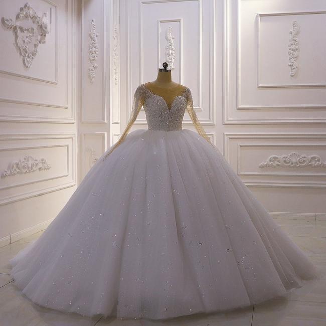 Hochzeitskleider Prinzessin Luxus   Hochzeitskleid Langarm Spitze