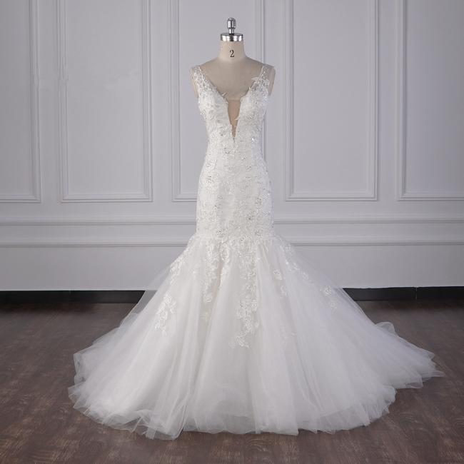 Wunderschöne Brautkleid Meerjungfrau | Hochzeitskleid Spitze Online