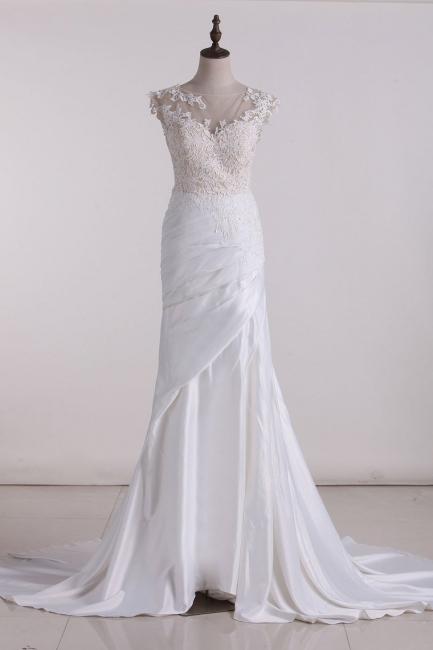Hochzeitskleid Schlicht | Brautkleid meerjungfrau