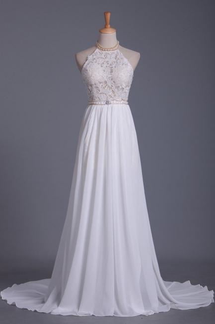 Schlichtes Hochzeitskleid Standesamt | Brautkleid A Linie Spitze