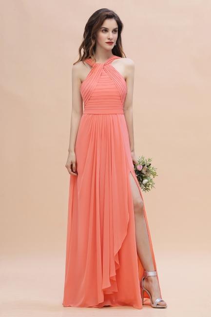 Orange Brautjungfernkleider Günstig   Chiffon Kleider Abendmoden
