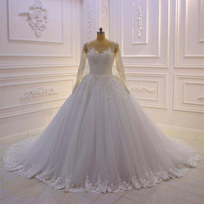 Brautkleider Prinzessin Luxus | Hochzeitskleider Lang Ärmel