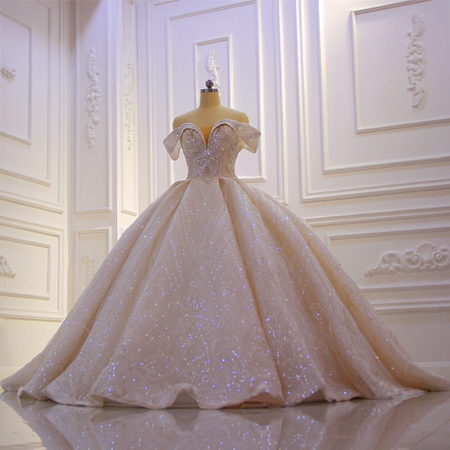 Hochzeitskleider Standesamt für Mollige | Brautkleider Prinzessin Luxus