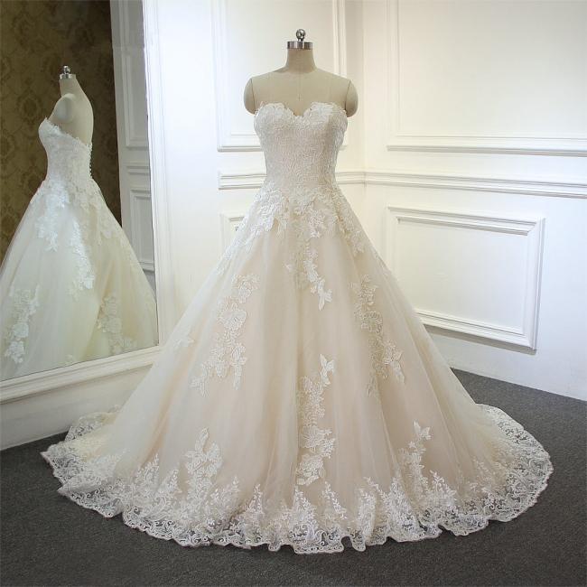 Hochzeitskleider für Schwangere | Brautkleid A Linie Spitze