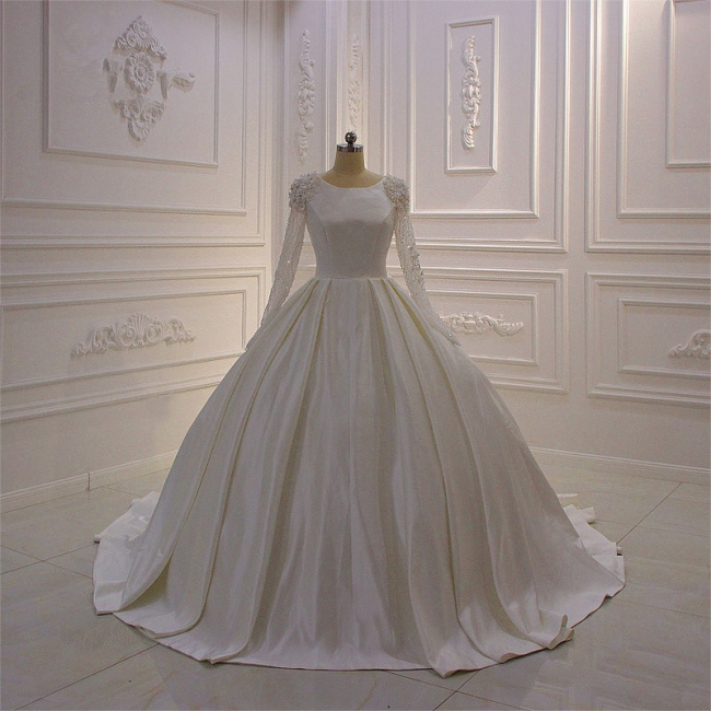 Hochzeitskleider Prinzessin Luxus | Brautkleid Lange Ärmel