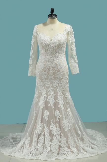 Elegante Brautkleider Meerjungfrau | Hochzeitskleider Mit Ärmel